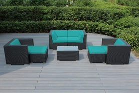 Ohana 7 Piece Outdoor Patio Wicker Furniture Sectional