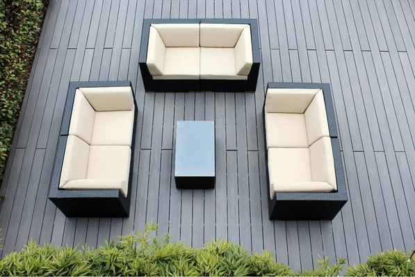 Ohana 7 Piece Outdoor Patio Wicker Furniture Couch Set