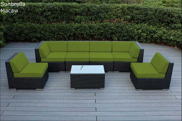 Fine Ohana Outdoor Patio Wicker Furniture 7Pc Deep Seat Set Download Free Architecture Designs Sospemadebymaigaardcom