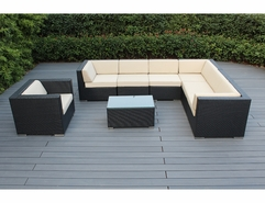 Ohana 8 Piece Outdoor Patio Wicker Furniture Sectional