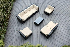 Ohana 8 Piece Outdoor Patio Wicker Furniture Seating Group