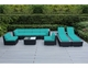 Ohana Outdoor Patio Wicker Furniture 9-Piece Sofa and Chaise Lounge Set