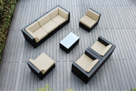 Ohana 8 Piece Outdoor Patio Wicker Sofa Sectional