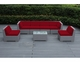 SPECIAL - Ohana Outdoor Patio  Furniture 7 Piece  Sectional Conversation Set - Gray Wicker
