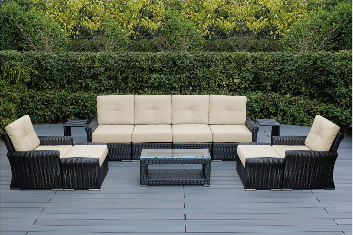 Outdoor Patio Couch Set, Beautiful Outdoor Patio Wicker Furniture Deep Seating 11 Pc Sofa Set New