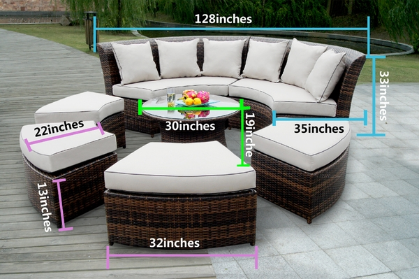 Enjoyable Beautiful Outdoor Patio Wicker Furniture Deep Seating 7Pc Unemploymentrelief Wooden Chair Designs For Living Room Unemploymentrelieforg