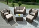 Ohana 7 Piece Outdoor Patio Wicker Furniture Sectional - Mixed Brown Wicker
