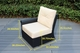 Ohana 11 Piece Outdoor Patio Wicker Furniture Luxury Seating Set with Tall|High Back  & Sunbrella Cushions