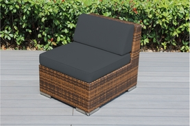Ohana Outdoor Patio Wicker Furniture Armless Chair