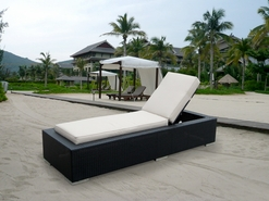 Ohana Outdoor Patio Wicker Furniture Chaise Lounge