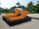 Ohana 2 Piece Outdoor Patio Wicker Furniture Chaise Lounge Set