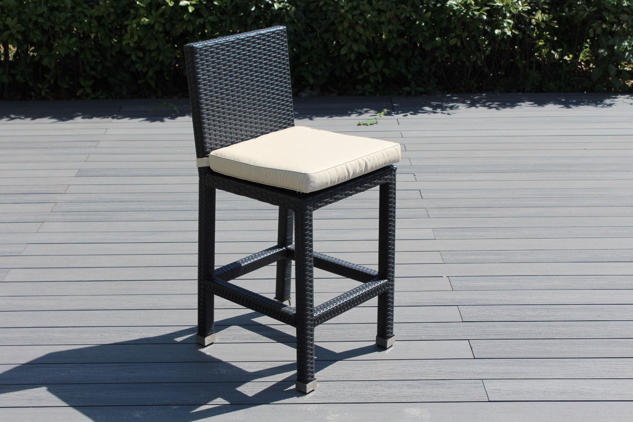Groovy Beautiful Brand Ohana New Outdoor Wicker Bar Stool Pabps2019 Chair Design Images Pabps2019Com
