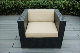 Ohana Outdoor Patio Wicker Furniture Club Chair