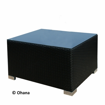 Ohana Outdoor Patio Wicker Furniture Coffee Table