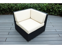 Ohana Outdoor Patio Wicker Furniture Corner Chair