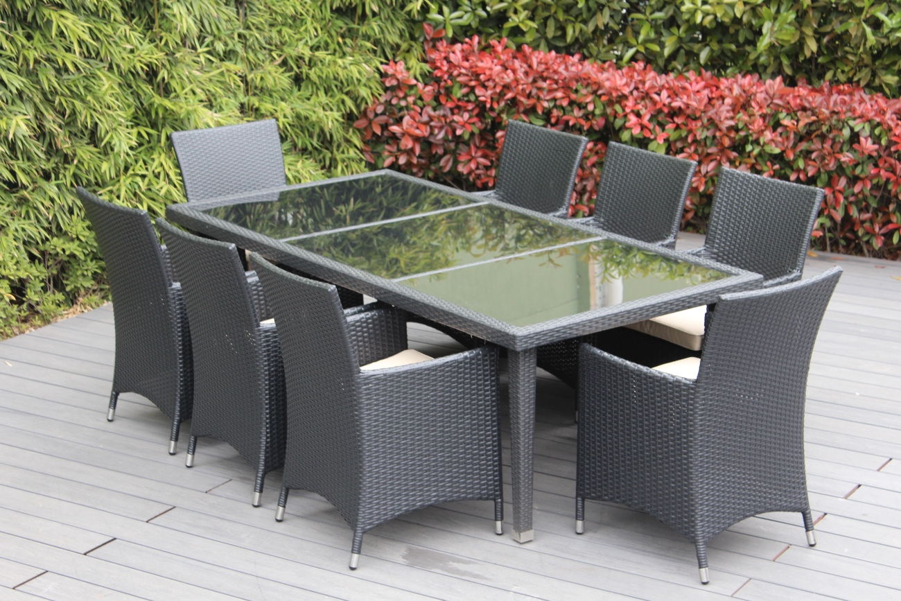 Beautiful Outdoor Patio Wicker Furniture Dining Set New