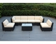Ohana 16 Piece Outdoor Patio Wicker Furniture Sofa, Dining and Chaise Lounge Set