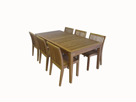 Ohana Outdoor Patio Teak Furniture Rectangular Dining Set