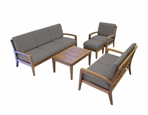Ohana Outdoor Patio Teak Furniture 6-Seater Sofa Set
