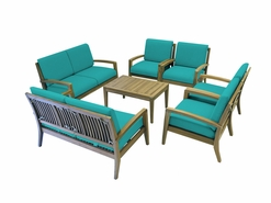 Ohana Outdoor Patio Teak Furniture 8-Seater Sofa Set