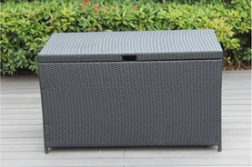 Outdoor Patio Wicker Furniture Cushion Storage Deck Box - Large