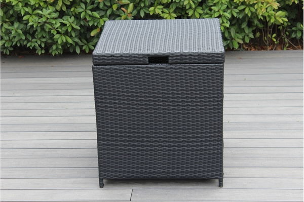 outdoor patio wicker furniture cushion storage bin deck box small click to enlarge - Patio Cushion Storage