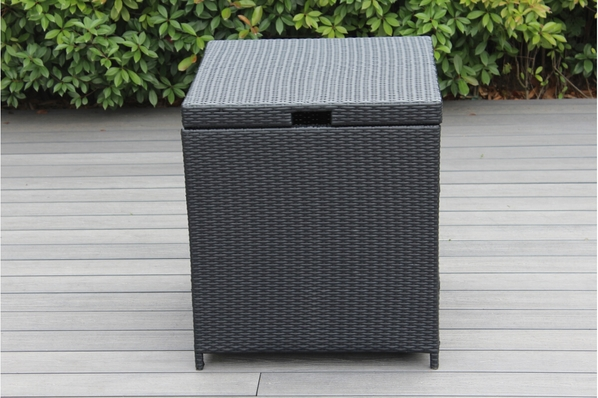 Outdoor Patio Wicker Furniture Cushion Storage Deck Box - Small