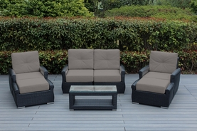 Ohana 7 Piece Luxury  Outdoor Patio Wicker Furniture Tall|High Back with Sunbrella Cushions