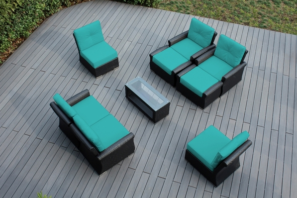 Ohana 9 Piece Outdoor Patio  Furniture Luxury Seating Set with Sunbrella Cushions