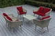 Ohana Sienna 6 Piece Wicker Patio Furniture Conversation Set