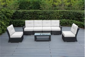 Luxury Collection - Ohana Outdoor Patio 7-Piece Seating Set with Tall Back & Sunbrella
