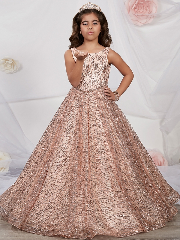 1a0a3358b17 Tiffany Princess 13530 Glitter Tulle Lace Up Pageant Gown ...