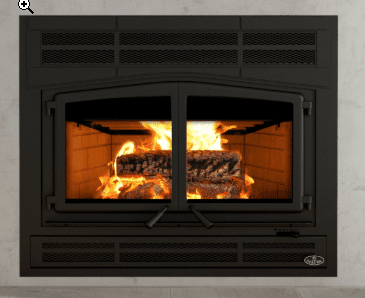 Osburn Horizon Wood Fireplace includes faceplate & refractory panels