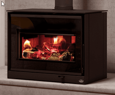 Osburn Inspire 2000 wood stove with decorative side panel kit