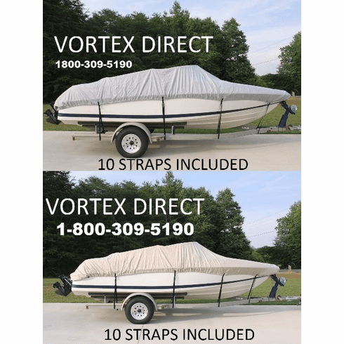 1200 DENIER FISHING/SKI/RUNABOUT/VHULL BOAT COVER 19.5' - 20' <BR>**OUT OF STOCK**