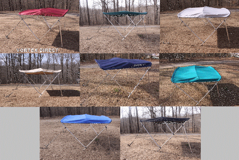 BIMINI TOPS <BR> ROUND 3 BOW<BR> ( COMPLETE KIT: FRAME, FABRIC, & HARDWARE )