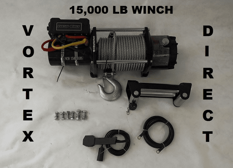 Vortex 15000 LB Pound Industrial/Recovery Winch/HEAVY DUTY 2 Remote System<BR>***CALL FOR PRICING***