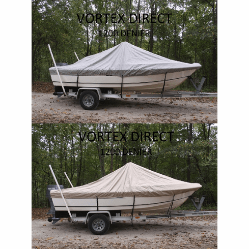 """VORTEX HEAVY DUTY 1200 DENIER CENTER CONSOLE BOAT COVER FOR 16'7"""" - 17'6"""" BOAT(FAST SHIPPING - 1 TO 4 BUSINESS DAY DELIVERY)<BR>***FREE SHIPPING***"""