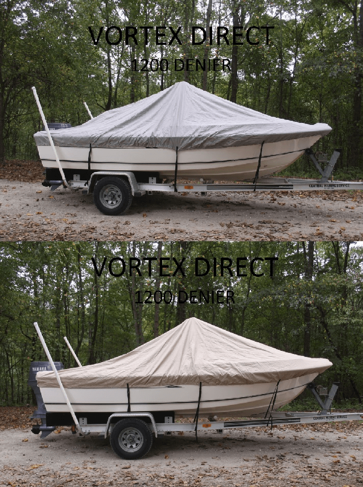 "VORTEX HEAVY DUTY 1200 DENIER CENTER CONSOLE BOAT COVER FOR 18'7"" - 19'6"" BOAT (FAST SHIPPING - 1 TO 4 BUSINESS DAY DELIVERY)"