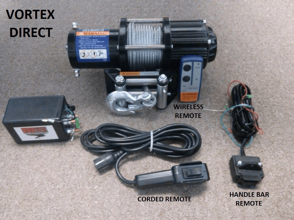 VORTEX Heavy Duty 4000lb ATV Winch Wireless/Wired/Handlebar Remote<BR> ***CALL FOR PRICING***