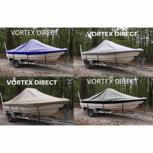 """VORTEX HEAVY DUTY CENTER CONSOLE BOAT COVER FOR 14'7"""" - 15'6"""" BOAT ( FAST SHIPPING - 1 TO 4 BUSINESS DAY DELIVERY )"""