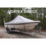 GRAY T-TOP CENTER CONSOLE BOAT COVER FOR 27-28 BOAT VORTEX HEAVY DUTY GREY FAST SHIPPING - 1 TO 4 BUSINESS DAY DELIVERY