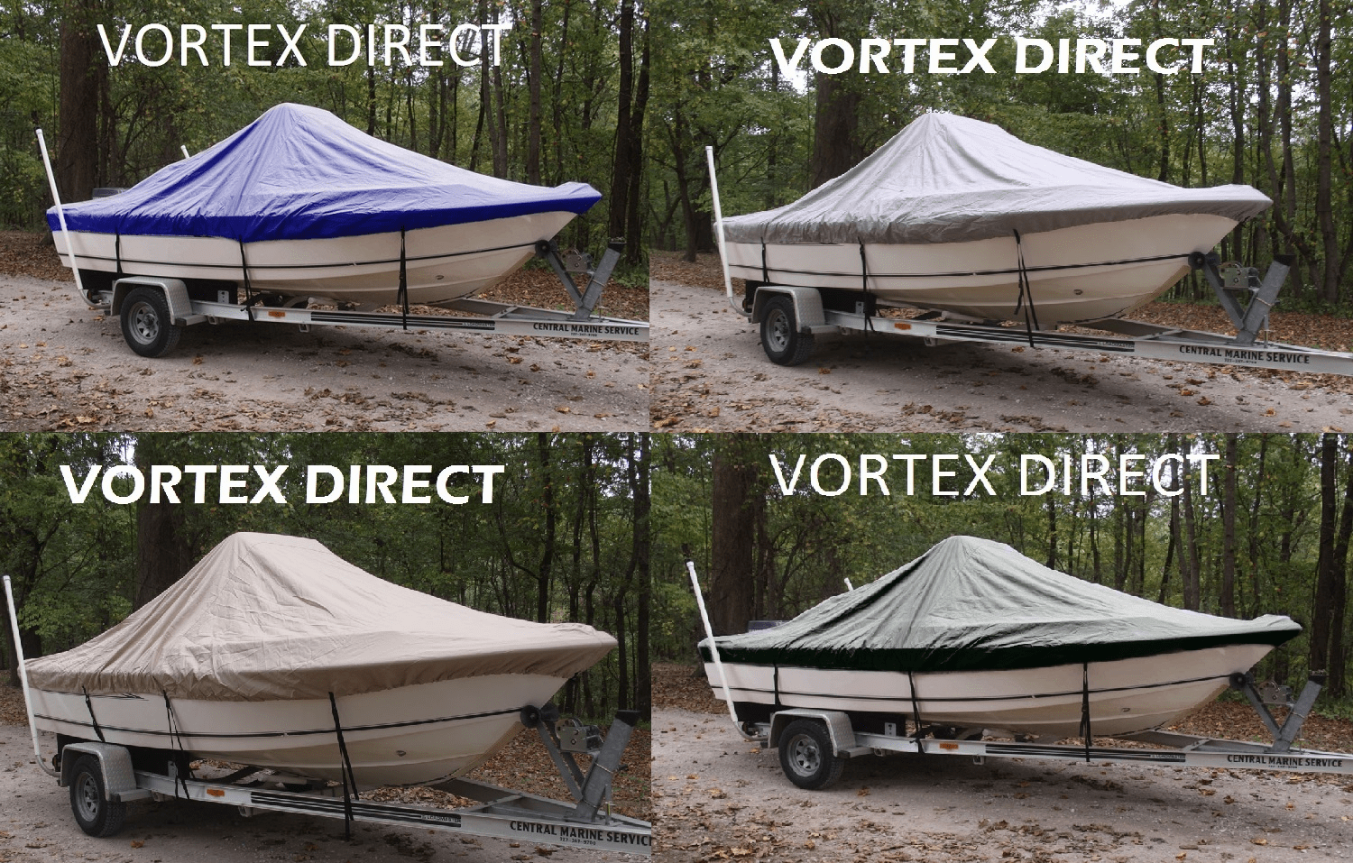"VORTEX HEAVY DUTY CENTER CONSOLE BOAT COVER FOR 15'7"" - 16'6"" BOAT ( FAST SHIPPING - 1 TO 4 BUSINESS DAY DELIVERY )"