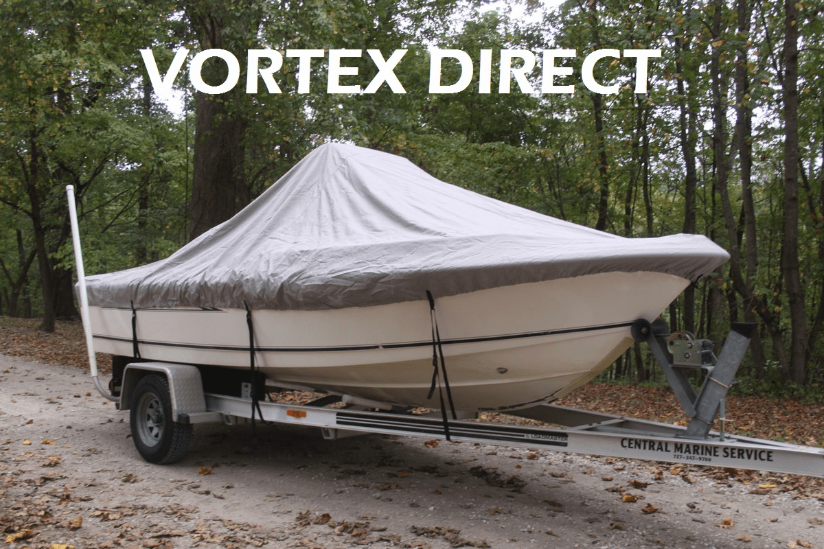 "VORTEX HEAVY DUTY CENTER CONSOLE BOAT COVER FOR 16'7"" - 17'6"" BOAT <BR>"