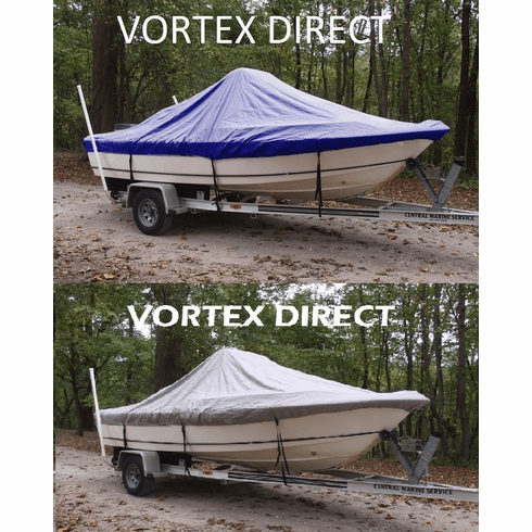 """VORTEX HEAVY DUTY CENTER CONSOLE BOAT COVER FOR 17'7"""" - 18'6"""" BOAT ( FAST SHIPPING - 1 TO 4 BUSINESS DAY DELIVERY )"""
