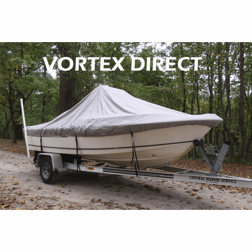 """VORTEX HEAVY DUTY CENTER CONSOLE BOAT COVER FOR 18'7"""" - 19'6"""" BOAT<BR>"""