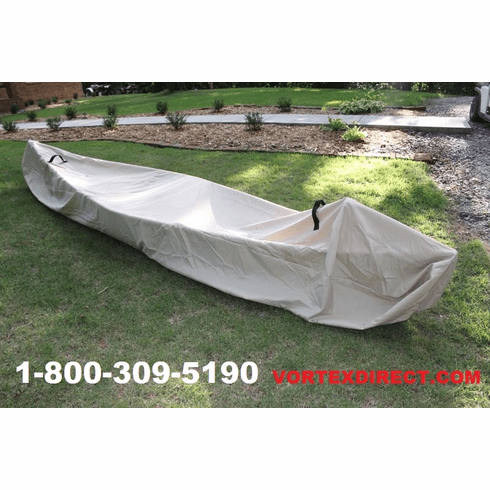 VORTEX HEAVY DUTY KAYAK/CANOE COVER UP TO 10' LENGTH (8', 8.5', 9', 9.5', 10'), UP TO 8' GIRTH TAN/BEIGE ***FREE SHIPPING***