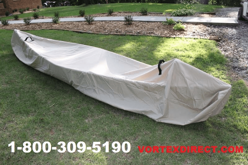 "VORTEX HEAVY DUTY KAYAK/CANOE COVER UP TO 16' LENGTH (14', 14.5', 15', 15.5', 16'), UP TO 9' 1/2"" GIRTH TAN/BEIGE <BR>***FREE SHIPPING***"