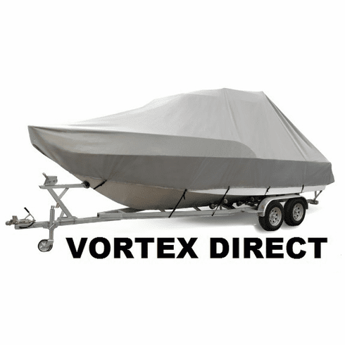 VORTEX HEAVY DUTY T-TOP CENTER CONSOLE BOAT COVER FOR 19' - 20' BOAT ( FAST SHIPPING - 1 TO 4 BUSINESS DAY DELIVERY )