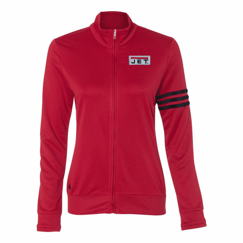Adidas Ladies' ClimaLite 3-Stripes French Terry Full-Zip Jacket